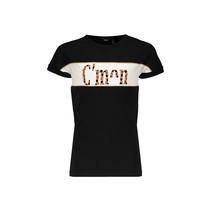 T-shirt Kamy with C'mon print jet black