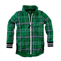 blouse Baas groovy green check