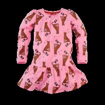 jurk Lois pink panter aop
