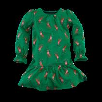 jurk Natalie groovy green aop