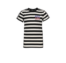 Bellaire T-shirt Kars allover stripe jet black