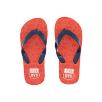 slippers Austin vintage red text