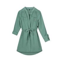 jurk Fayline botanic green