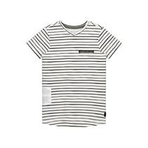 T-shirt Farley white painted stripe