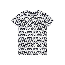 T-shirt Geert dark navy text