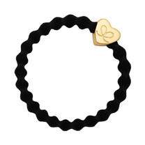gold heart black