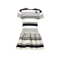 jurk yarn dyed funky stripe blue navy