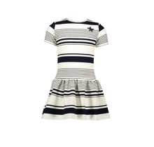 Le Chic jurk yarn dyed funky stripe blue navy