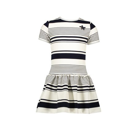 Le Chic Le Chic jurk yarn dyed funky stripe blue navy