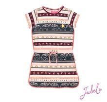 Jubel jurk streep roze - Stargazer