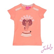 T-shirt lady luck koraal - Stargazer
