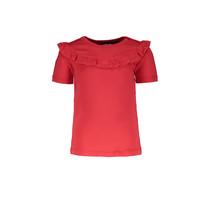 T-shirt viscose jersey ruffle cerise
