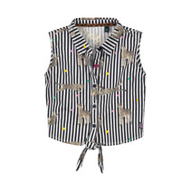 blouse Bregje indigo blue stripe