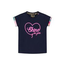 T-shirt Bodil indigo blue