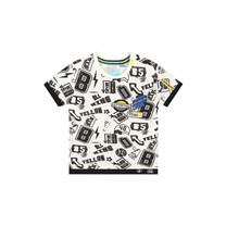 T-shirt Bilal dark grey sketch text