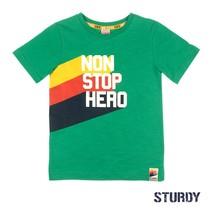 T-shirt non stop hero groen - Thrillseeker