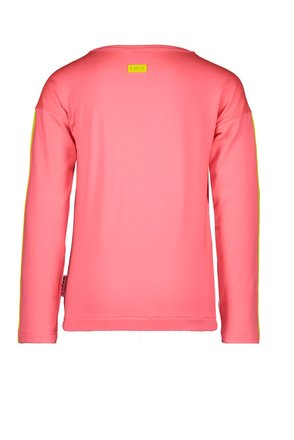 B.Nosy longsleeve sweat with tape on sleeves and chest artwork festival pink
