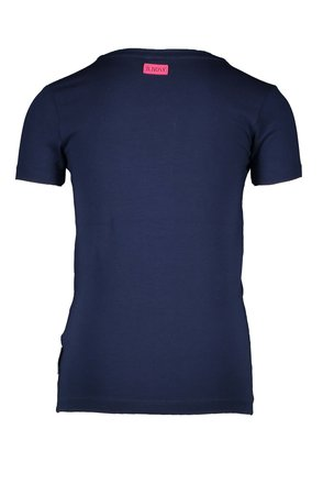 B.Nosy T-shirt with cord at front panel space blue
