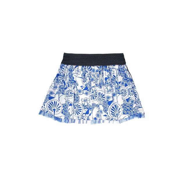 B.Nosy rok Delfts aop whith mesh hem detail Delfts blue
