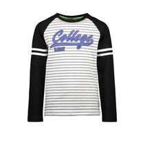 longsleeve raglan with printed stripes on sleeve baseball lines ao