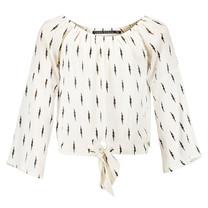blouse Nova off white/ lightning print