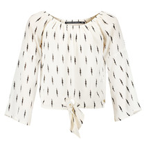 blouse Nova off white/ lightning print