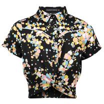 blouse Nima black/ multi colour dot