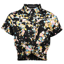blouse Nima black/ multi colour dot