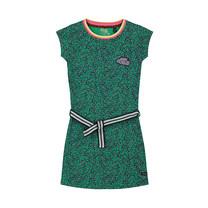 jurk Aafje jungle green leopard