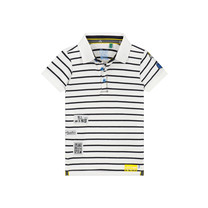 polo Anas white stripe