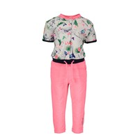 jumpsuit with birdy aop top and solid pants birdy