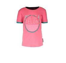 B.Nosy T-shirt with laser cut out festival pink