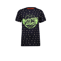 T-shirt aop summervibes navy