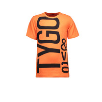 T-shirt logo neon shocking orange