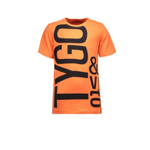T-shirt logo neon shocking orange