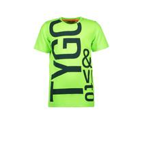 T-shirt logo neon green gecko