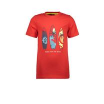 T-shirt surfboard red