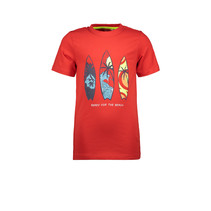 T-shirt surfboard red