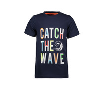 T-shirt catch the wave navy