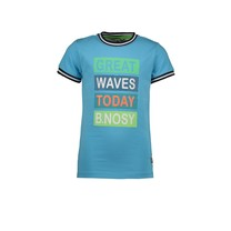 T-shirt with multicolor hd print maya blue
