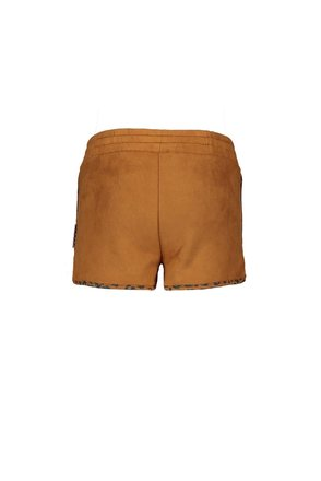 B.Nosy short fake suede with leo aop binding soft brown