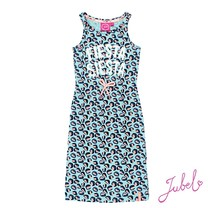 jurk lang aop mint - Botanic blush