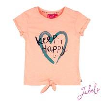T-shirt keep it happy zalm summer - Botanic blush