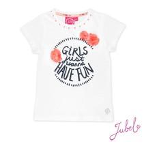 T-shirt girls just wanna wit - Botanic blush