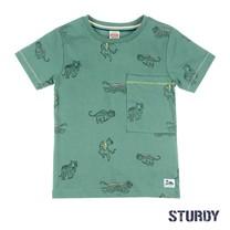T-shirt aop army - Wild wanderer