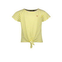 T-shirt yd stripe knotted yellow