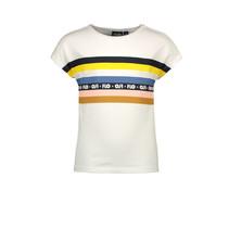 T-shirt slub jersey rainbow off white