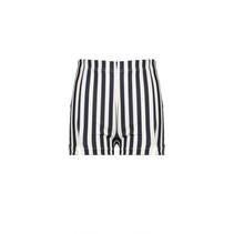 short Suma striped tech interlock navy blazer