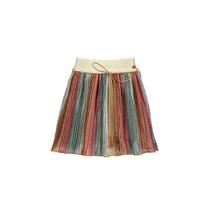 rok Nikky B pleated glitter copper elastic waist soft copper