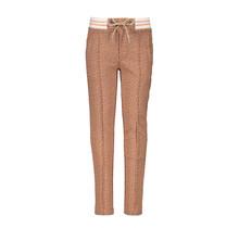 Nono broek SeclerD aop animal sweat rib waistband with lurex cord side pockets with zipper hazelnut